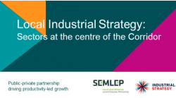 Local Industrial Strategy: sectors at the centre of the Corridor