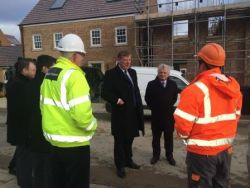 Housing Minister visits Corby