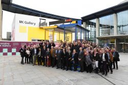 Guests celebrate the start of MK Gallery's expansion...