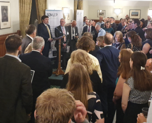 Andrew Lewer MP, hosting SEMLEP Business Ambassador reception at House of Commons, 25 June 2019
