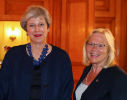 SEMLEPs Ann Limb meets PM Theresa May at first council...
