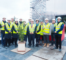 MK Gallery celebrates new building with topping out...