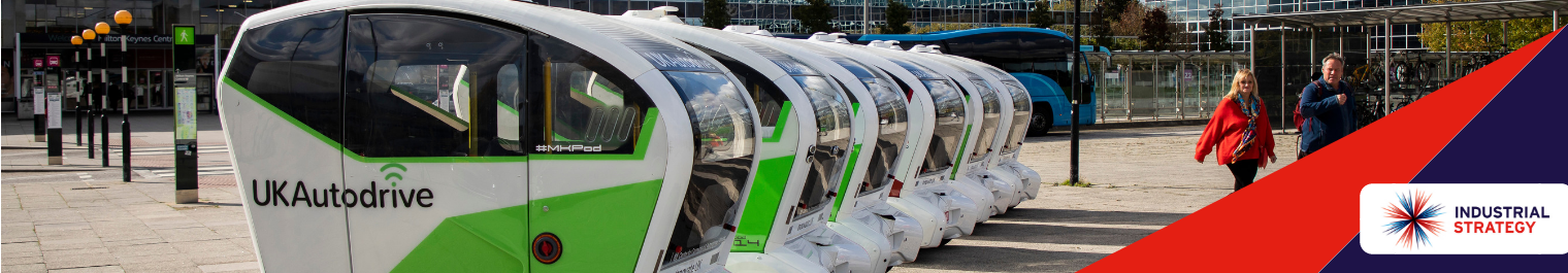Autonomous vehicles at Milton Keynes station